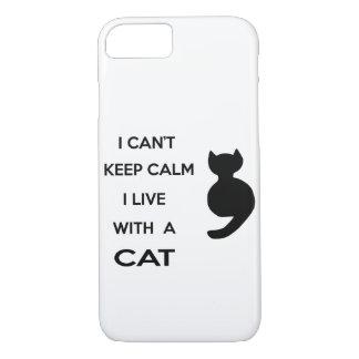 Capa iPhone 8/ 7 eu vivo com um gato