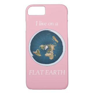 Capa iPhone 8/ 7 Eu vivo em um rosa liso da terra