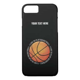 Capa iPhone 8/ 7 Eu vivo para jogar presentes do esporte do