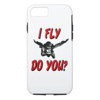 Capa iPhone 8/ 7 Eu vôo, faz você? (preto)