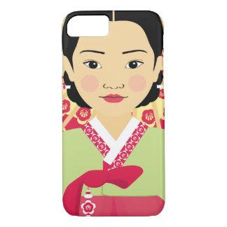 Capa iPhone 8/ 7 Exemplo coreano de Matryoshka da menina
