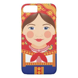 Capa iPhone 8/ 7 Exemplo de Matryoshka do russo