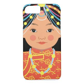 Capa iPhone 8/ 7 Exemplo de Matryoshka do tibetano