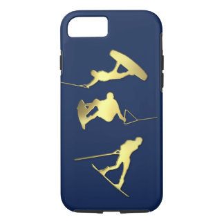 Capa iPhone 8/ 7 Exemplo dos Wakeboarders iPhone/iPad do ouro