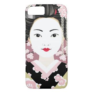 Capa iPhone 8/ 7 Exemplo japonês de Matryoshka da gueixa