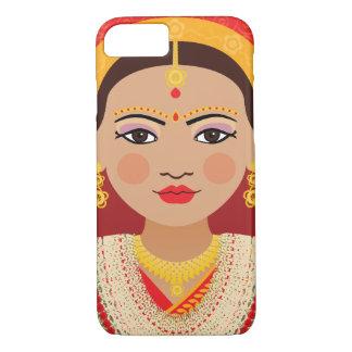Capa iPhone 8/ 7 Exemplo nepalês de Matryoshka da noiva