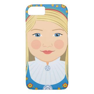 Capa iPhone 8/ 7 Exemplo norueguês de Matryoshka da menina