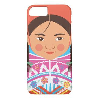Capa iPhone 8/ 7 Exemplo peruano de Matryoshka da menina