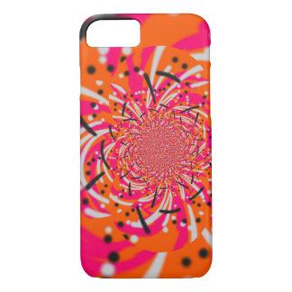 Capa iPhone 8/ 7 Explosão de cor abstrata alaranjada e cor-de-rosa