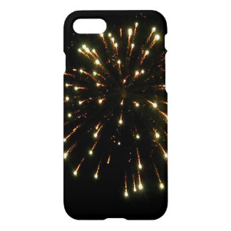 Capa iPhone 8/7 Explosão dos fogos-de-artifício do ouro