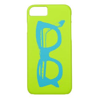 Capa iPhone 8/ 7 Eyeglasses verde-claro & azuis da segurança do