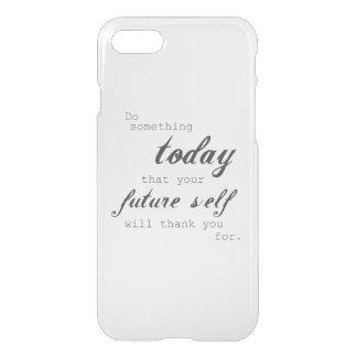 Capa iPhone 8/7 Faça algo hoje: caso do iPhone 7
