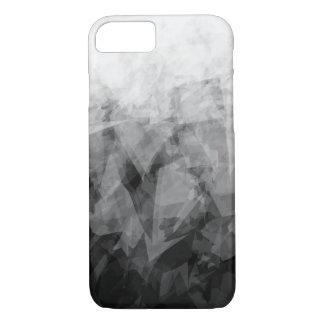 Capa iPhone 8/ 7 Facetas abstratas de B&W - iPhone de Apple 8/7 de