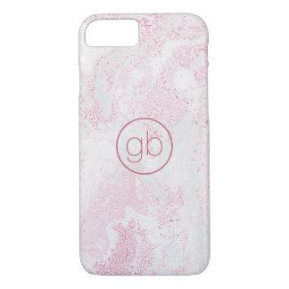 Capa iPhone 8/ 7 Falso de mármore cor-de-rosa da textura com