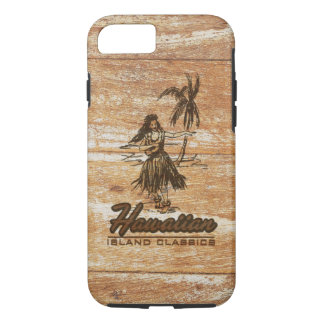 Capa iPhone 8/ 7 Falso havaiano da barraca do surf de madeira