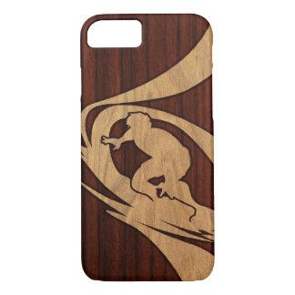 Capa iPhone 8/ 7 Falso havaiano de Koa do surfista de Kewalos de
