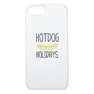 Capa iPhone 8/ 7 Família do partido de feriados do Hotdog engraçada