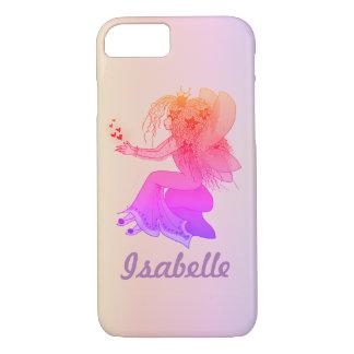 Capa iPhone 8/ 7 Fantasia bonito feminino cor-de-rosa feericamente