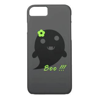 """Capa iPhone 8/ 7 Fantasma bonito com flor e palavra """"vaia """""""