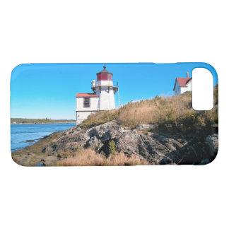 Capa iPhone 8/ 7 Farol do ponto do esquilo, rio Kennebec, Maine