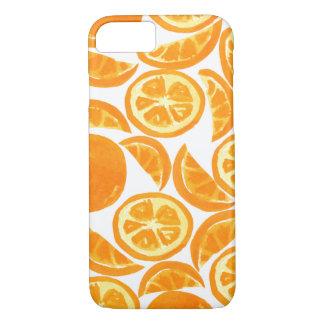 Capa iPhone 8/ 7 Fatias alaranjadas da aguarela - fruta da aguarela