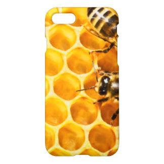 Capa iPhone 8/7 Favo de mel e design do teste padrão das abelhas