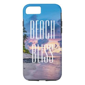 Capa iPhone 8/ 7 Felicidade da praia. Ilha tropical bonita