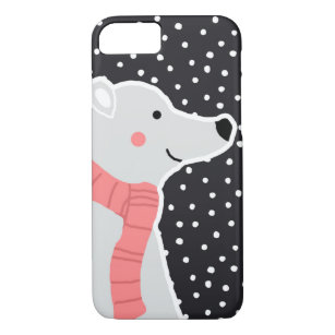 Capa iPhone 8/ 7 Feliz Natal - urso polar