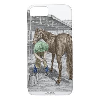 Capa iPhone 8/ 7 Ferreiro do Farrier que calça o cavalo