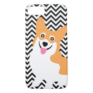 Capa iPhone 8/ 7 Filhote de cachorro bonito Chevron do Corgi de