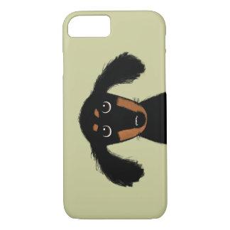 Capa iPhone 8/ 7 Filhote de cachorro de cabelos compridos bonito do