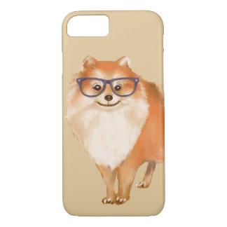Capa iPhone 8/ 7 Filhote de cachorro esperto de Pomeranian (cor do