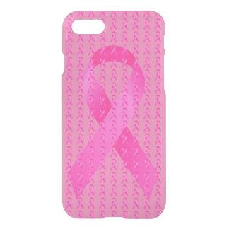 Capa iPhone 8/7 Fita do rosa do mês de consciência do câncer de