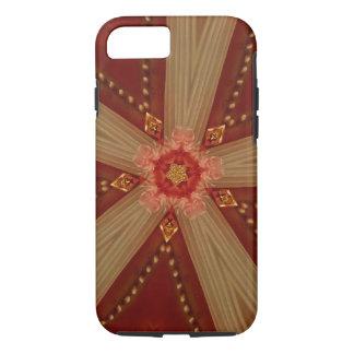 Capa iPhone 8/ 7 Fita vermelho marrom clássica chique elegante da