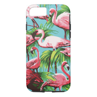 Capa iPhone 8/ 7 Flamingos cor-de-rosa retros legal