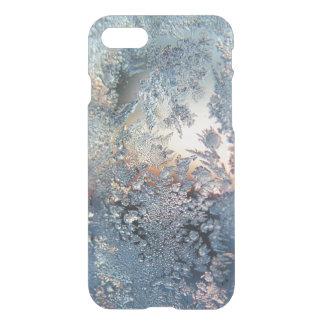 Capa iPhone 8/7 Flocos de neve da geada do inverno que bling o