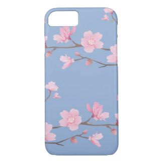 Capa iPhone 8/ 7 Flor de cerejeira - azul da serenidade