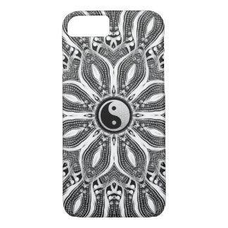 Capa iPhone 8/ 7 Flor de Yin Yang do caso do iPhone 6 da vida
