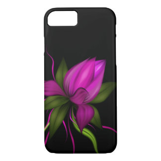 Capa iPhone 8/ 7 Flor do vetor no preto