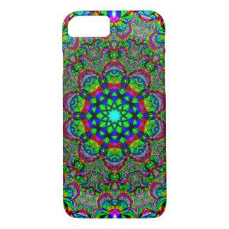 Capa iPhone 8/ 7 Flor psicadélico/Fractal