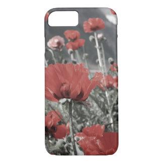 Capa iPhone 8/ 7 flor vermelha da papoila da paisagem da natureza