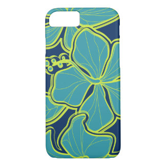 Capa iPhone 8/ 7 Floral desproporcionado havaiano do hibiscus de