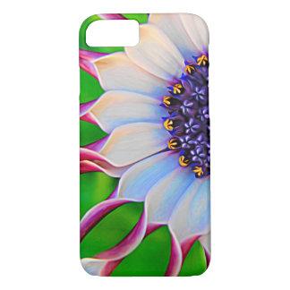 Capa iPhone 8/ 7 Floral elegante roxo da margarida africana