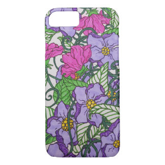 Capa iPhone 8/ 7 Floral roxo