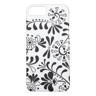 Capa iPhone 8/ 7 Flores abstratas preto e branco
