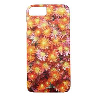 Capa iPhone 8/ 7 Flores alaranjadas da planta de gelo