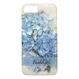 Capa iPhone 8/ 7 Flores azuis do Hydrangea