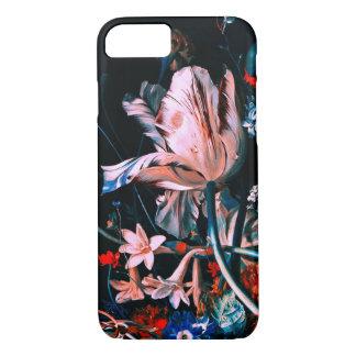 Capa iPhone 8/ 7 FLORES COLORIDAS das TULIPAS BRANCAS COR-DE-ROSA