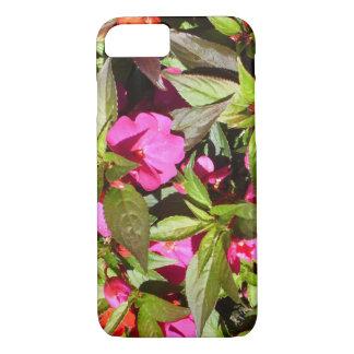 Capa iPhone 8/ 7 Flores cor-de-rosa tropicais botânicas florais