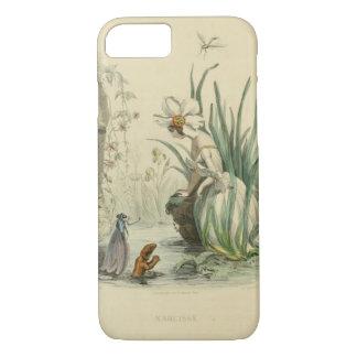 Capa iPhone 8/ 7 Flores da fantasia do Victorian - narciso